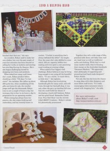 Robyn from Arjay Creations Published in 'Decorative Country Threads' Magazine